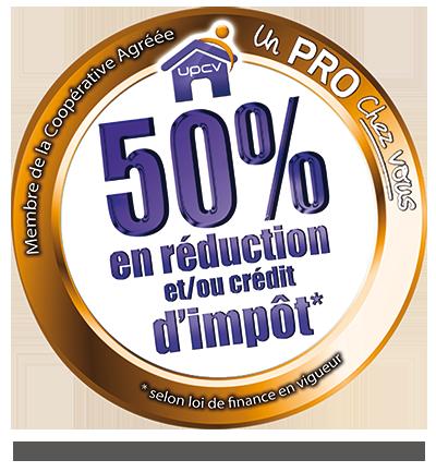 UPCV - 50 % de réduction et crédit d'impôt
