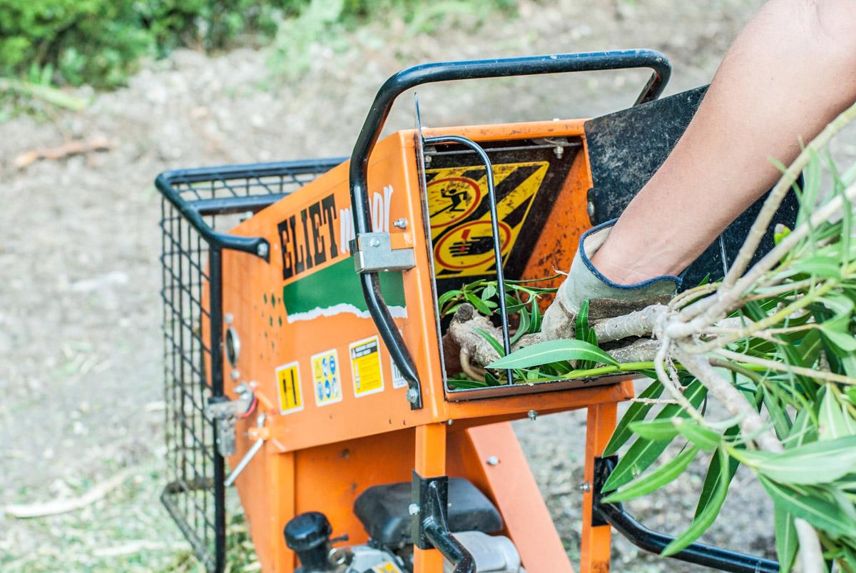 Broyage mécanique des branches et branchages puis évacuation des déchets verts