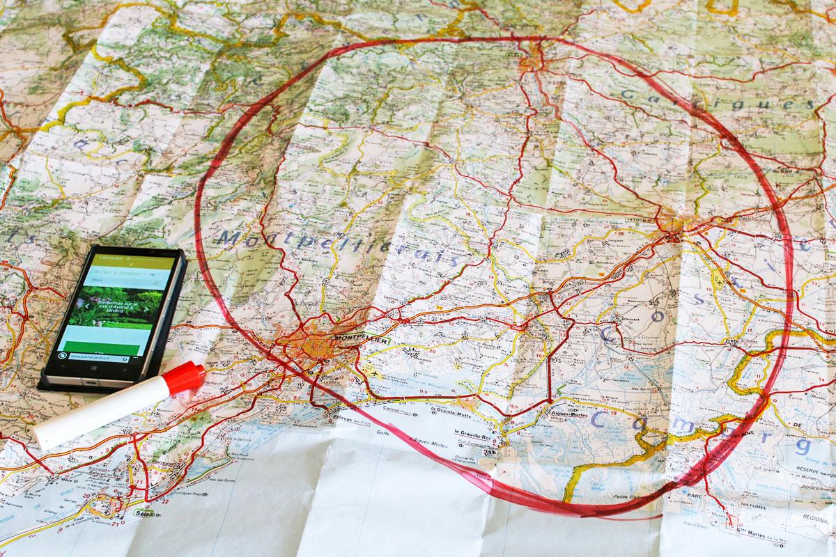 La zone d'intervention de vos paysagistes et jardiniers sur le Gard et l'Hérault
